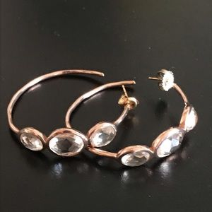 Ippolita 925 morganite stones hoops